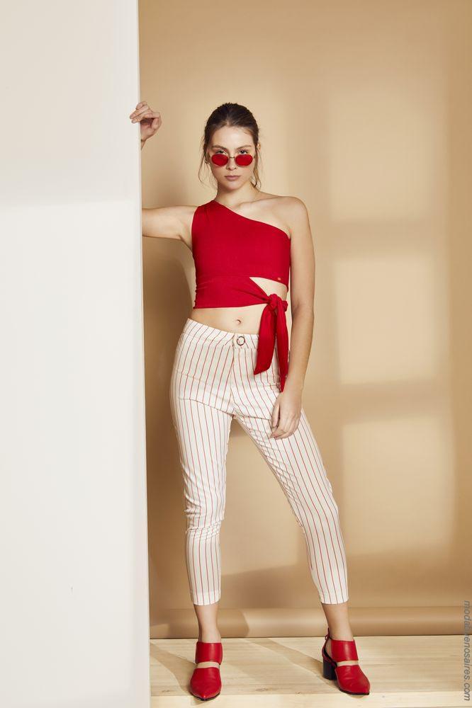Moda primavera verano 2019 ropa de mujer. Pantalones y tops moda 2019.