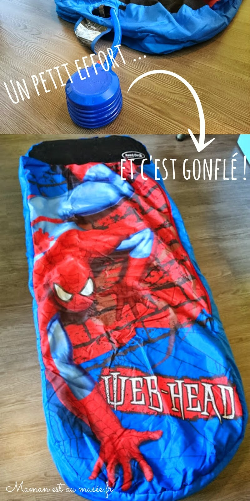 matelas gonflable spiderman