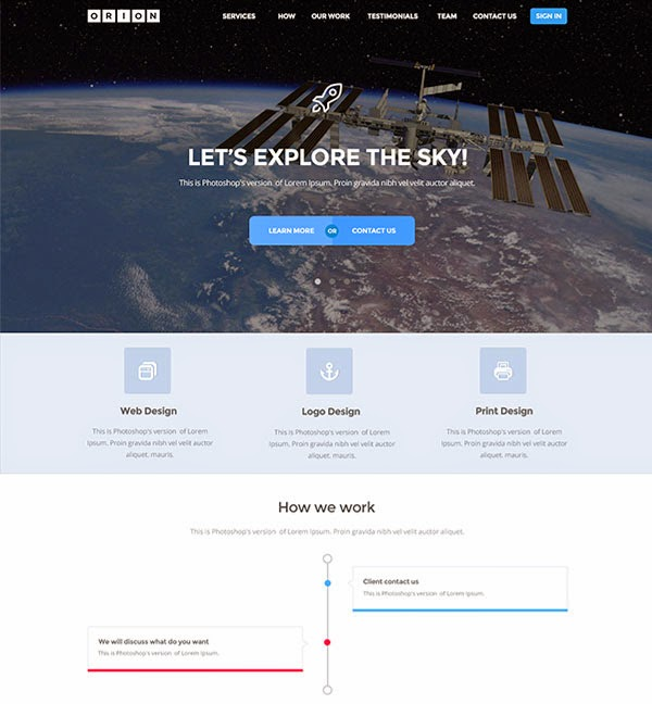 Orion - Free PSD Template