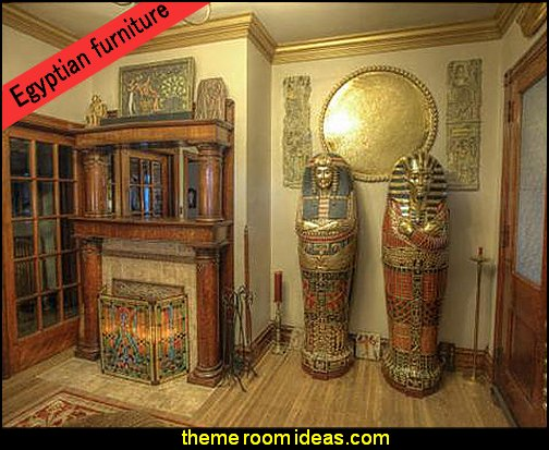 egyptian themed furniture King Tutankhamen's Life-Size Sarcophagus Cabinet egyptian themed furniture