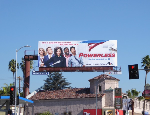 Powerless TV series billboard