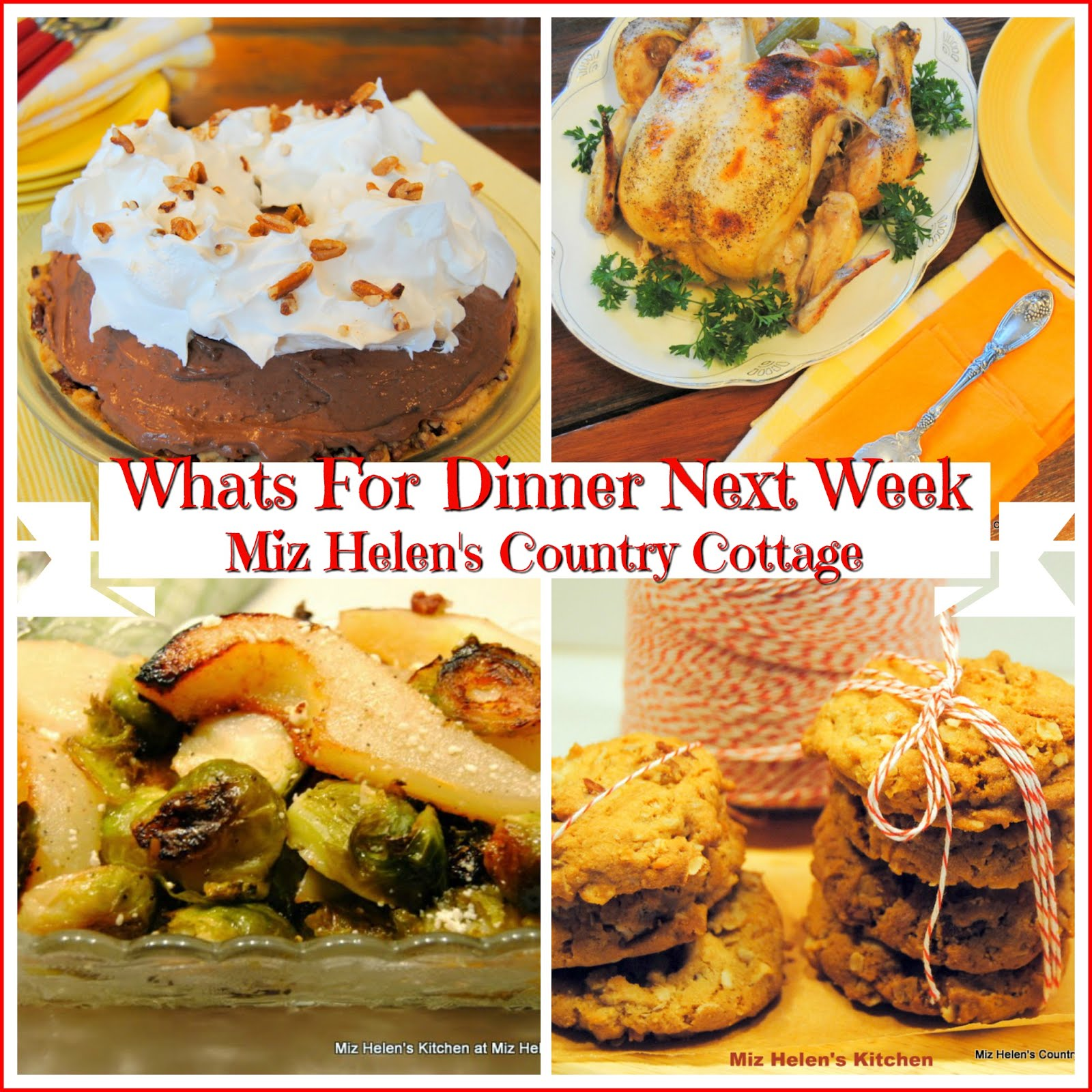 Whats For Dinner Next Week * Week of 1-13-19