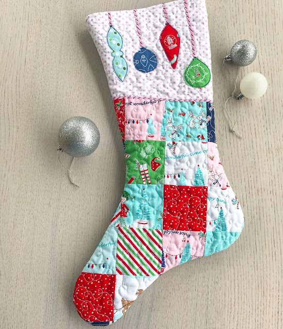 Quilted Christmas Stocking by Anorina Morris