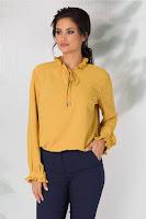 bluza eleganta, cu textura delicata din voal
