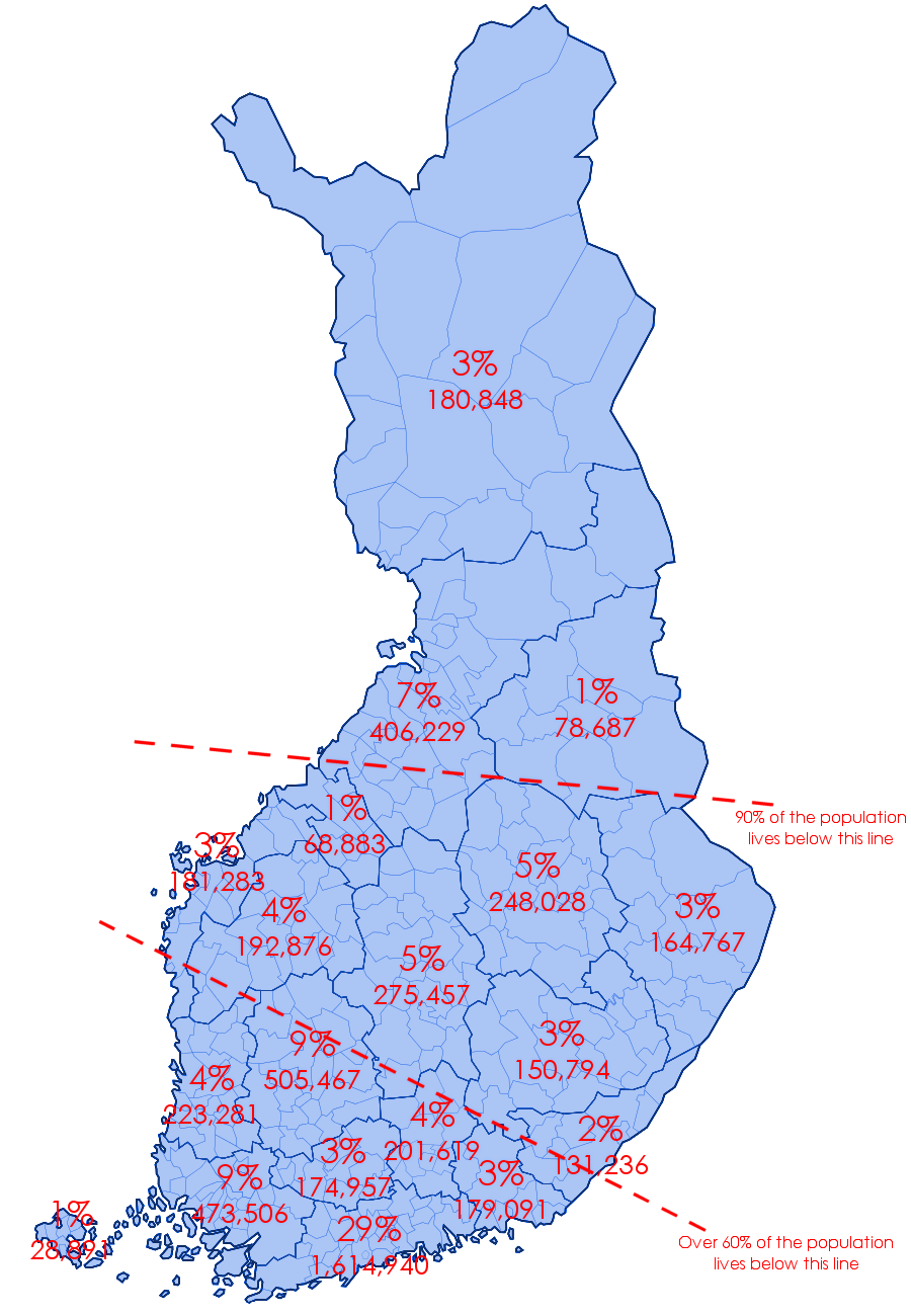 Where Finnish people live