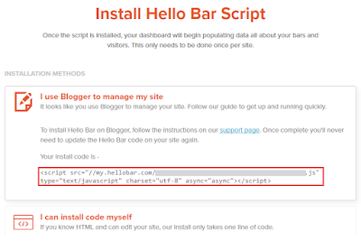 how to install hellobar in blogger 101helper