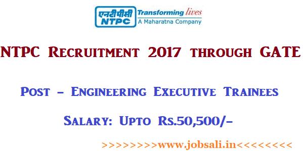 NTPC Careers, NTPC Engineering jobs,