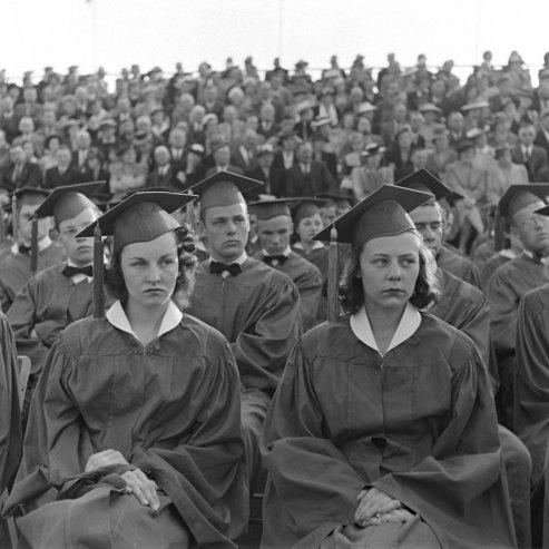 High School Graduation In Mansfield Ohio June 1941