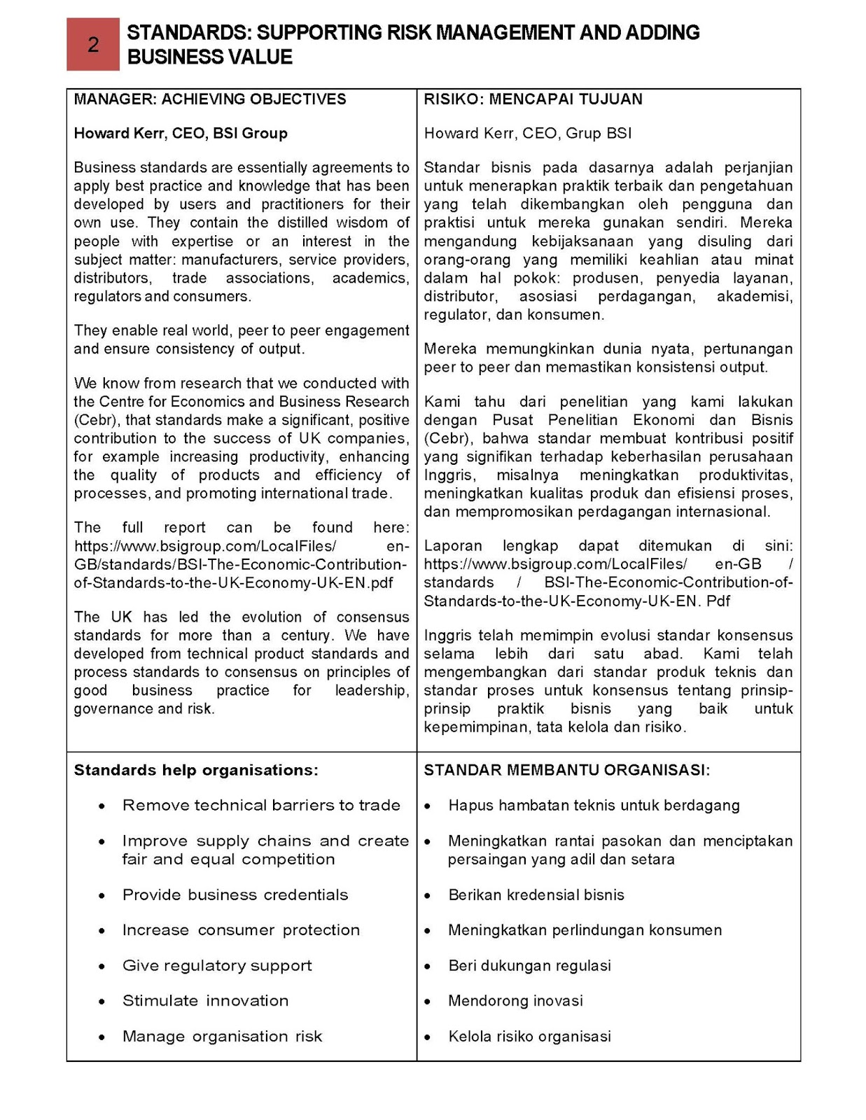 Standard Manajemen Risiko Standards Supporting Risk Management And Adding Business Value