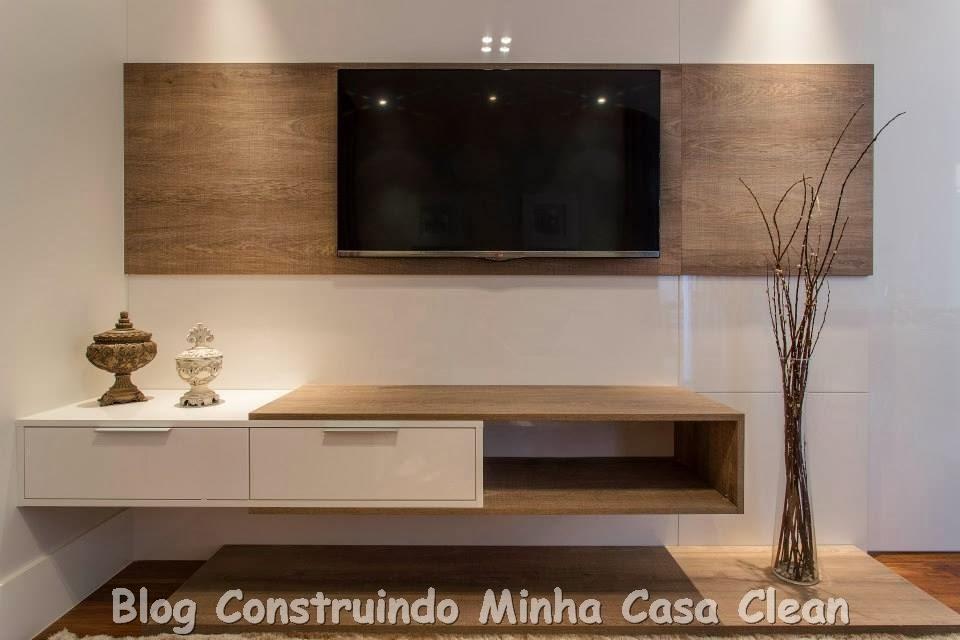Artesanato Indiano Em Madeira ~ Construindo Minha Casa Clean Home Theater! 20 Projetos de Salas de TV Modernas!!!