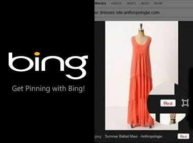 Microsoft Bing adds sharing images on Pinterest