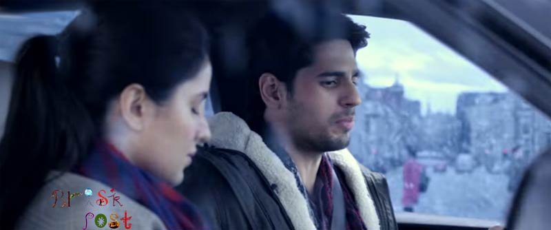 Katrina Kaif and Sidharth Malhotra in Baar Baar Dekho car still