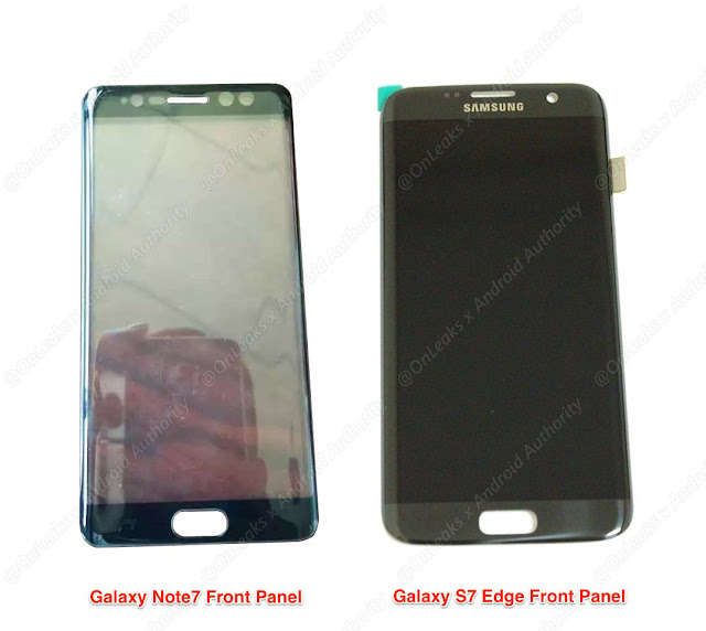 Galaxy Note 7 compared to S7 Edge