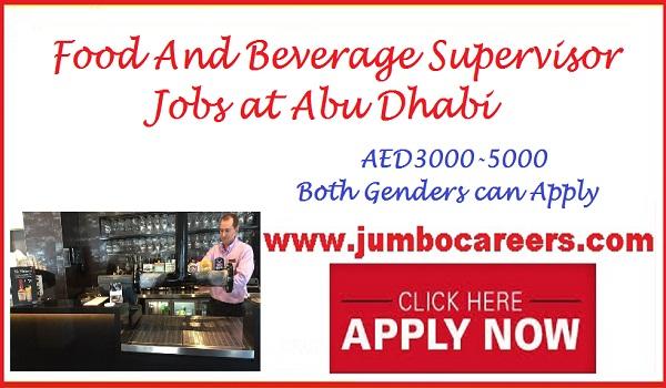 Supervisor jobs in Dubai, Latest hotel jobs with attractive salary in Dubai,