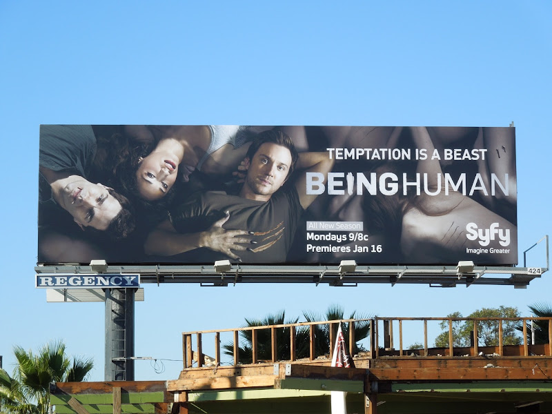 Being Human season 2 TV billboard