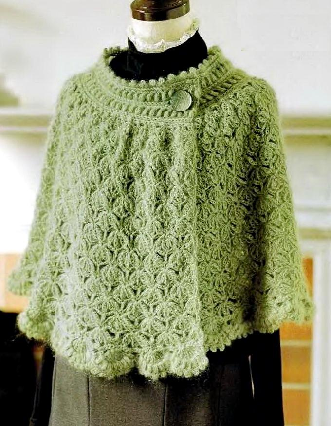 Free Crochet Patterns For Women s Capes ~ Dancox for