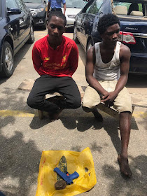 Two Robbers Nabbed While Trying To Rob A Car With Toy Gun In Lagos