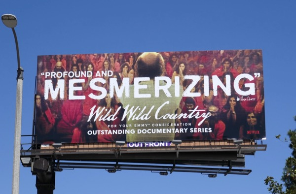 Wild Wild Country 2018 Emmy FYC billboard