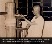 Wing Chun quote: Yip Man / Ip Man - Get old stop training Wing Chun