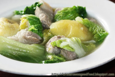 Nilagang+Baboy - Nilagang Baboy Recipe (Boiled Pork with Vegetables)
