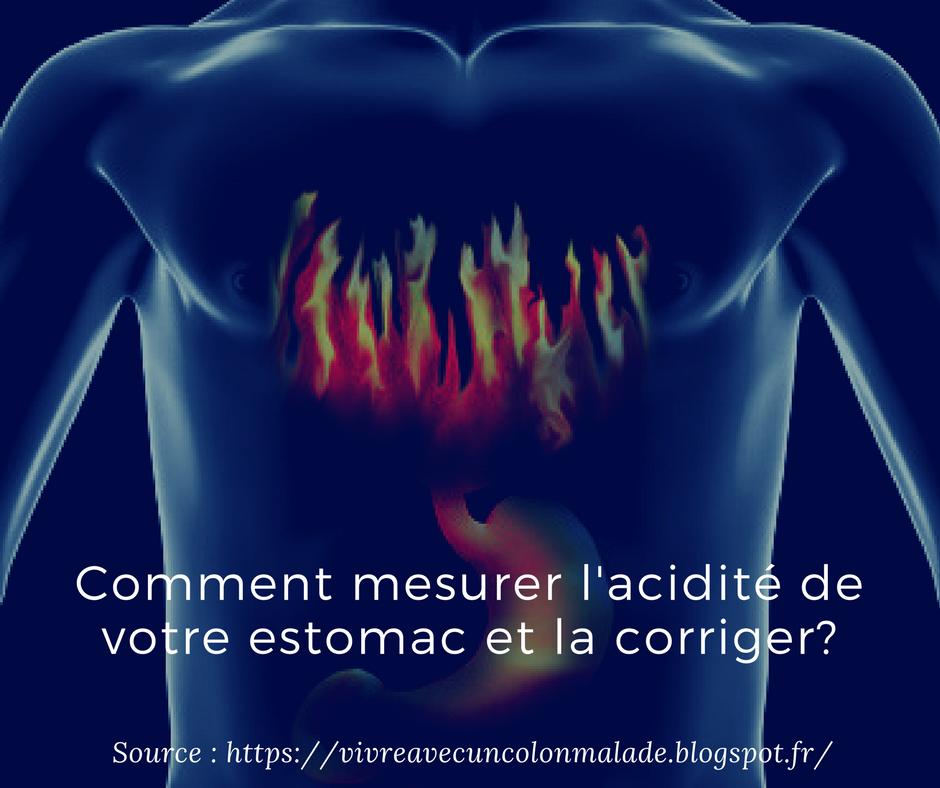 test pour mesurer l'acidité de son estomac
