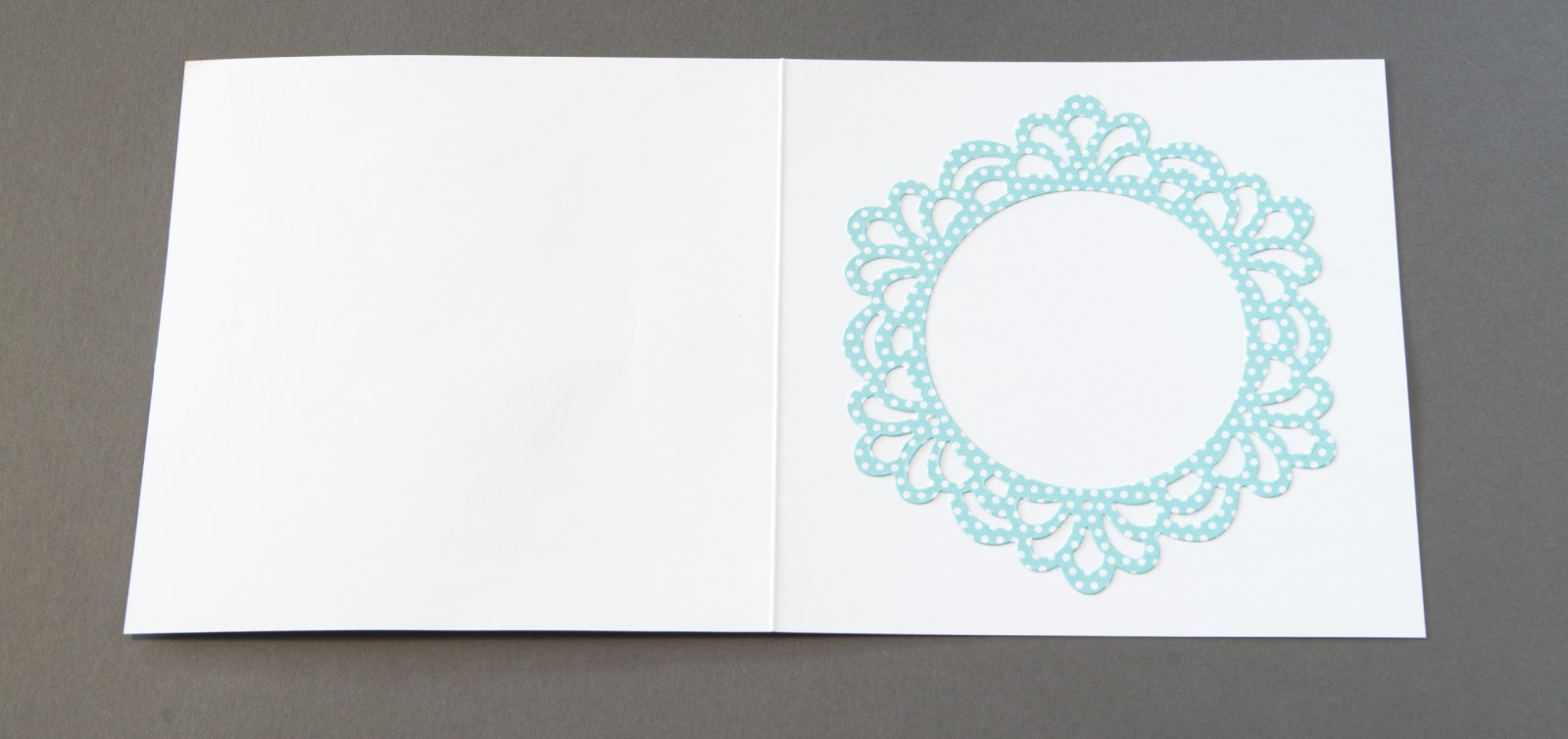Doily card with Sizzix die