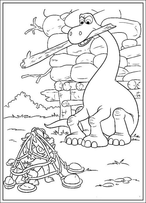 Ausmalbilder zum Ausdrucken: Ausmalbilder von Good Dinosaur zum ...