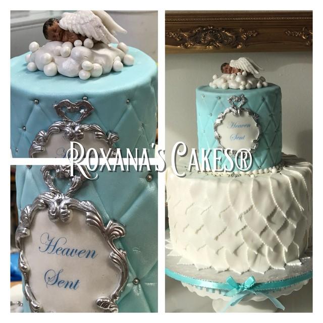 Baking With Roxana S Cakes Heaven Sent Baby Shower Cake