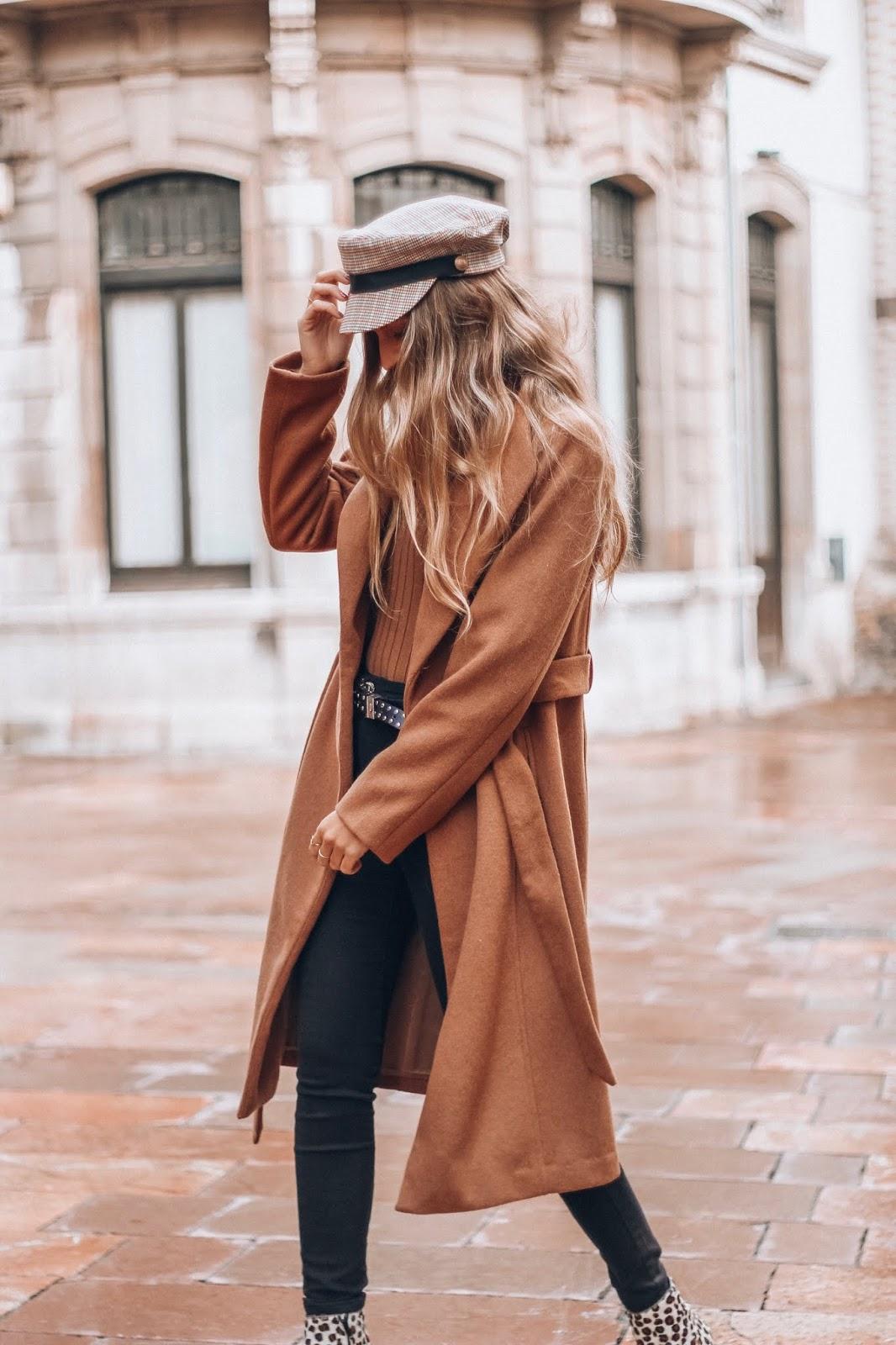 tendencia abrigo camel largo