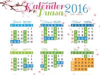 Kalender Ramadhan dan Jadwal Imsakiyah 1437 H / 2016 M