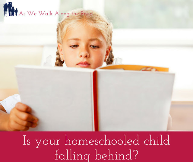 Homeschooled child falling behind