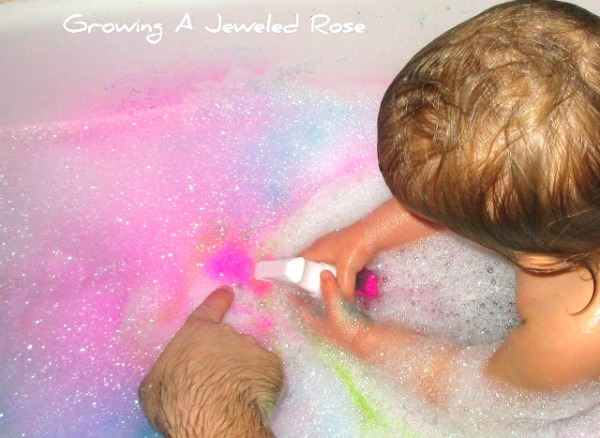 bubble bath time painting fun