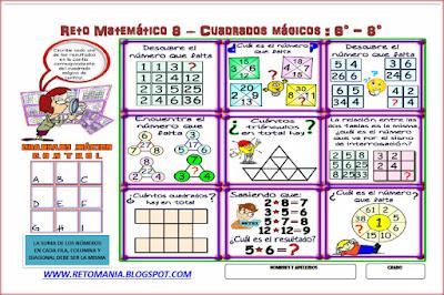 Descubre el número, El número que falta. Piensa rápido, ¿Cuál es el número que falta?, ¿Cuál es el número que sigue?, ¿Cuántos cuadrados hay?, ¿Cuántos triángulos hay?, Retos Matemáticos, Desafíos Matemáticos, Cuadrados Mágicos