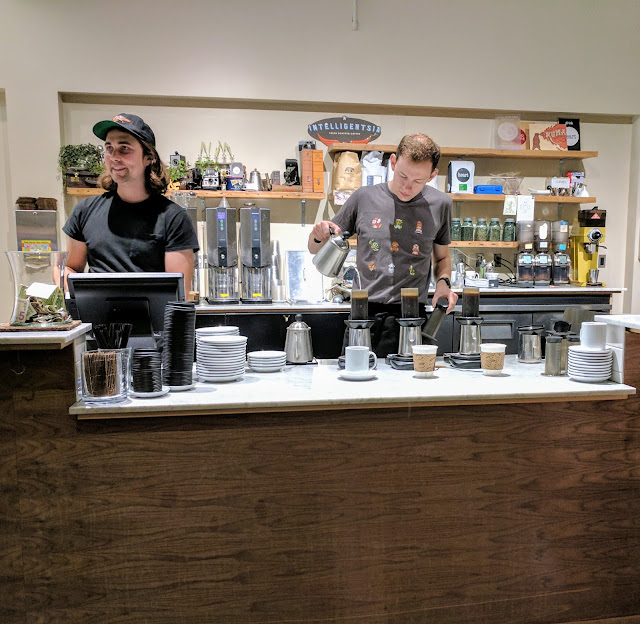 Coffee in Seattle's Fremont neighborhood: Milstead and Co. baristas