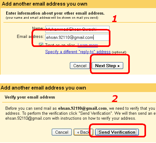 gmail multiple account setting