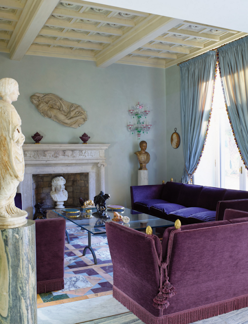Living room, a collection of marble sculptures | The New York Times Photographs by Henry Bourne