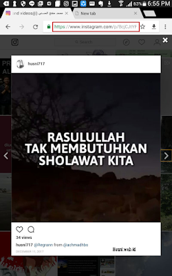 Cara download foto atau video instagram tanpa aplikasi melalui smartphone