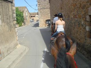 Espanja, katalonia, ratsastusmatka