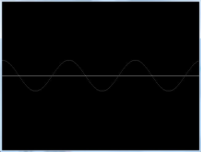 C graphics program to draw cosine wave graph
