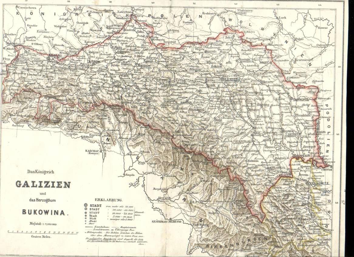 Galizien Karte.Karte Von Galizien Creactie