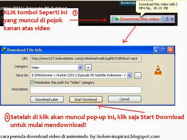 Cara Download Video di AnimeIndo