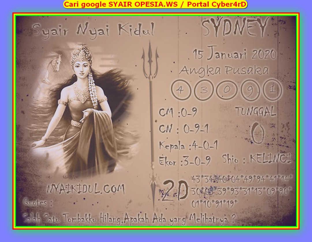 Kode syair Sydney Rabu 15 Januari 2020 128