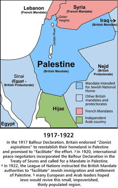 The Larger Borders Promised to Israel After WW1