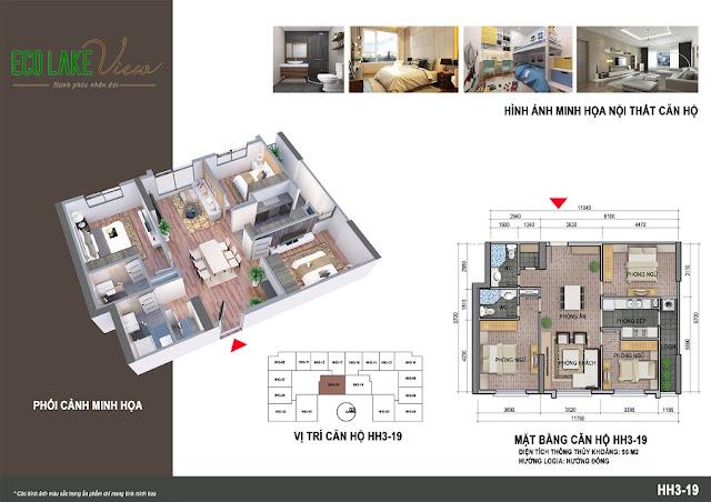 Thiết kế căn hộ 09 tòa HH-3 chung cư Eco Lake View