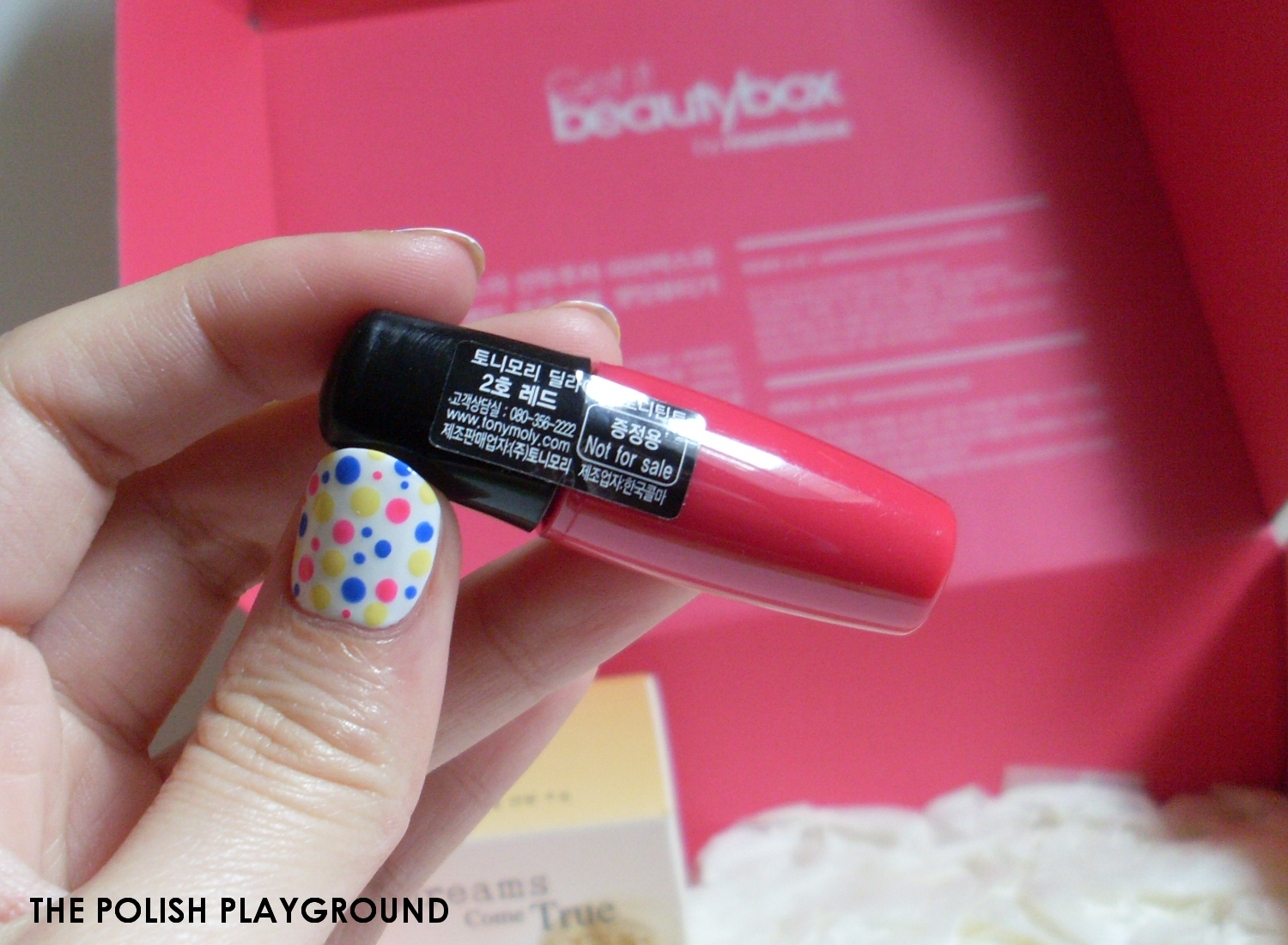 Memebox Luckybox #1 Unboxing and First Impressions - Tonymoly Delight Tony Tint Red