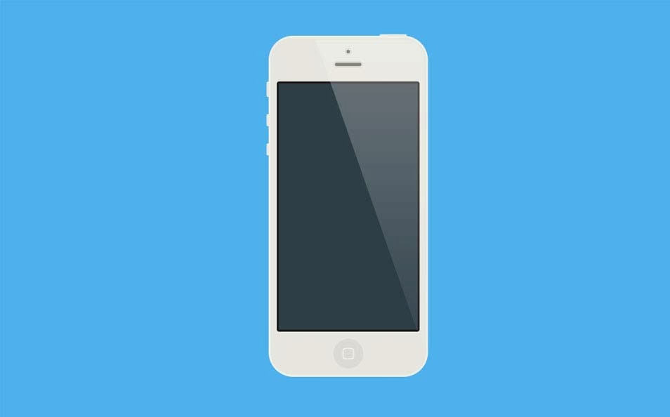 iPhone White Mockup PSD