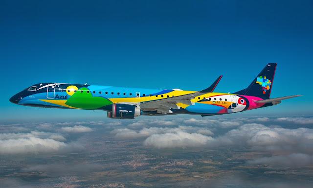 Resultado de imagem para azul linhas aereas carnaval