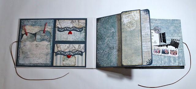 Bolsillos para la carpeta del libro de firmas de Ann Friks. Scrapbook
