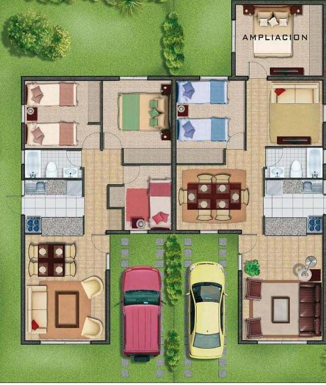 Planos de casas gratis y departamentos en venta for Disenar habitaciones online 3d