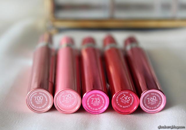 שפתוני Ultra HD Gel Lipcolor lipstick review swatches סקירה המלצה 700700 sand 720 pink cloud 735 garden 745 rhubarb 760 vineyard רבלון גלוסברי בלוג איפור וטיפוח ג'ל